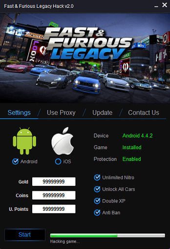 Fast & Furious Legacy Hack