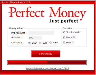 Perfect Money Adder