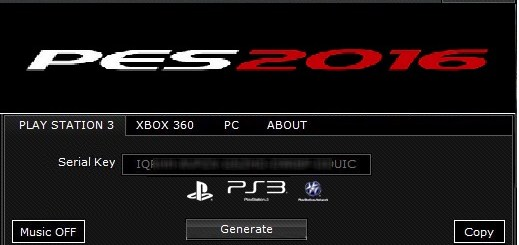 PES 2017 Serial Key Generator Are you hoping to open the full Pro Evolution Soccer 2017 game? Indeed, you have gone to the perfect spot! Our PES 2017 Serial Key Generator will create boundless keys that can be utilized to open the FULL game. Use them yourself, or offer them with companions. Each key is substantial and working.