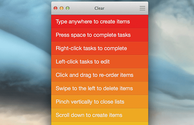 Clear for Mac
