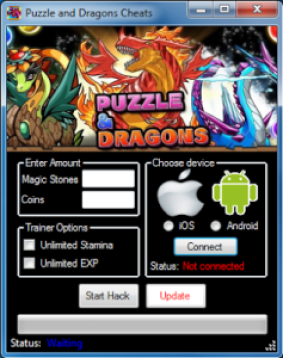 Puzzle and Dragons Hack – Unlimited Magic