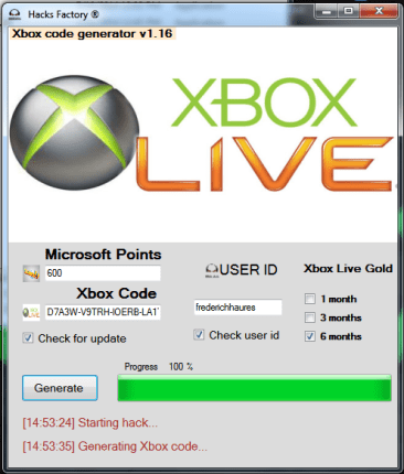 Xbox 360 live Hack Cheats