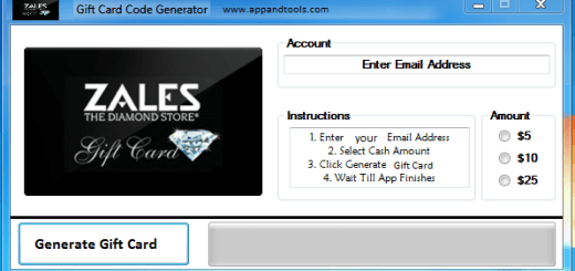 Zales Gift Card Generator redeem 1$, 5$, 10$, 15$, 25$ and 50$ We are offering Zales Gift Card Generator. In this post we are going to review you how to get the gift card for free, without paying anything. Why using your credit card and spending a lot of money if you don't need to do that? :) Here is this awesome tool, easy to use. Here is the best tool available on internet regarding this kind of store, Zales Gift Card Generator.
