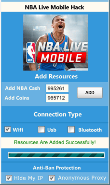 NBA LIVE Mobile Cheats Hack