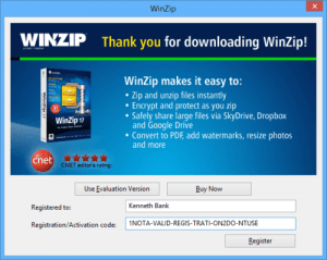 Winzip 19.5 Registration Key