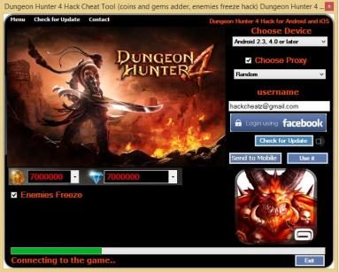 Dungeon Hunter 4 Hack Cheat Tool