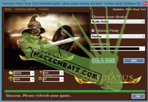 Gladiatus Hack Cheat Tool Unlimited