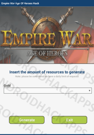 Empire War Age Of Heroes Hack APK Gold