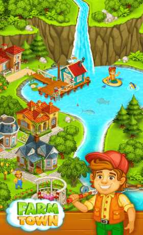 Farm Town: Happy farming Day & food farm game City Apk + Mod (Free Shopping) for Android