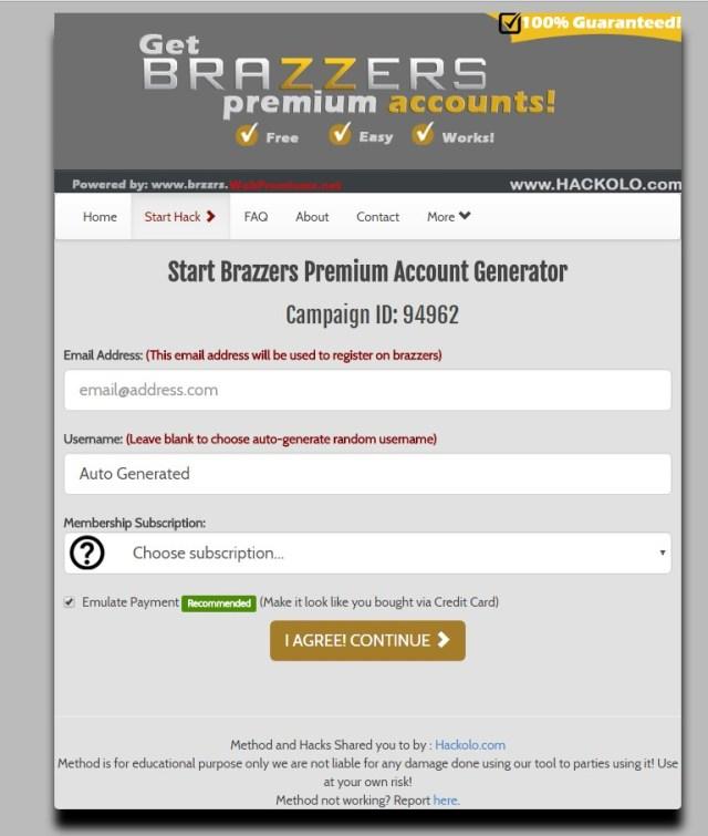 Free List Of Brazzers Accounts