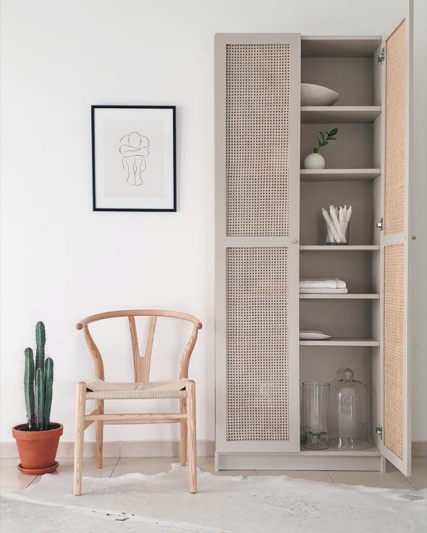 Ikea BILLY Cane Door Cabinet Hack