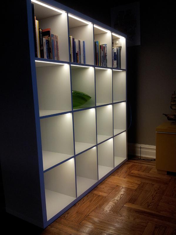 Ikea Kallax Shelf Lighting Hack