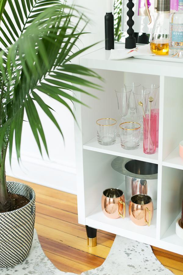 Ikea Kallax Stylish Bar Hack