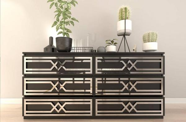 Ikea Malm Art Deco Dresser Hack