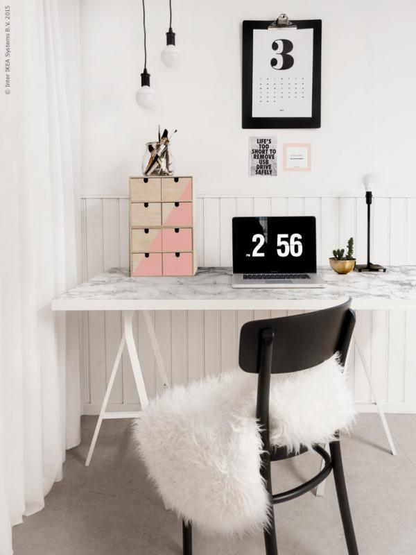 Ikea Marble Top Desk Hack