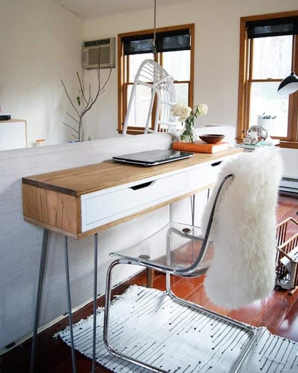 Ikea Slim Wood Wrapped Desk Hack