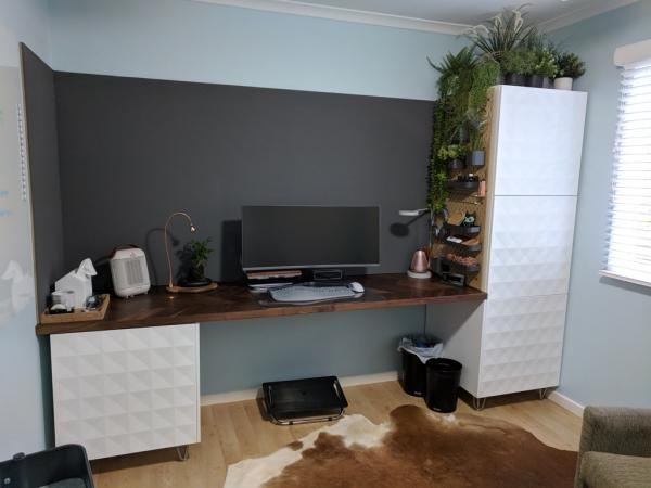 Ikea Stylish Desk with Living Wall Hack