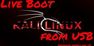 Live boot kali linux