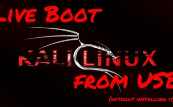 Live boot kali linux