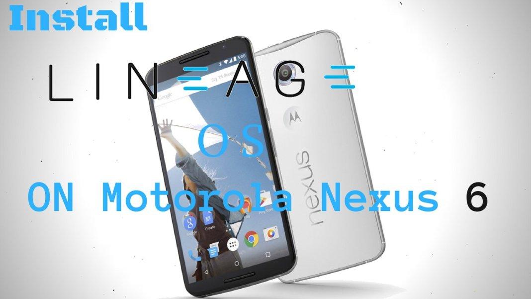 Lineage OS on Motorola Nexus 6