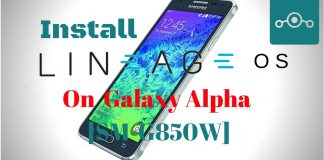 Lineage OS On Samsung Galaxy Alpha