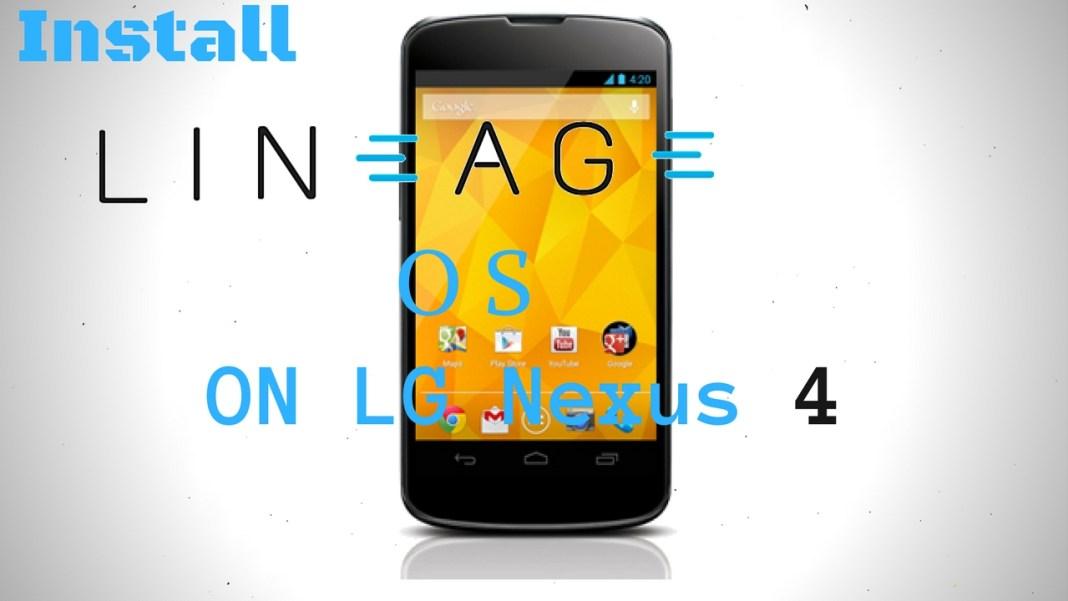 Lineage OS on LG Nexus 4