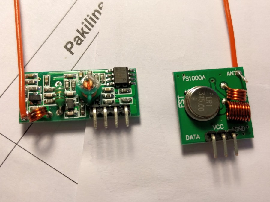 Radio Frequency Transmitter & Receiver Module With Arduino