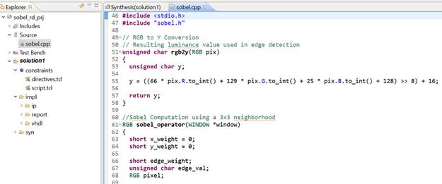 Figure 1: Reference Design—Sobel Filter Implementation