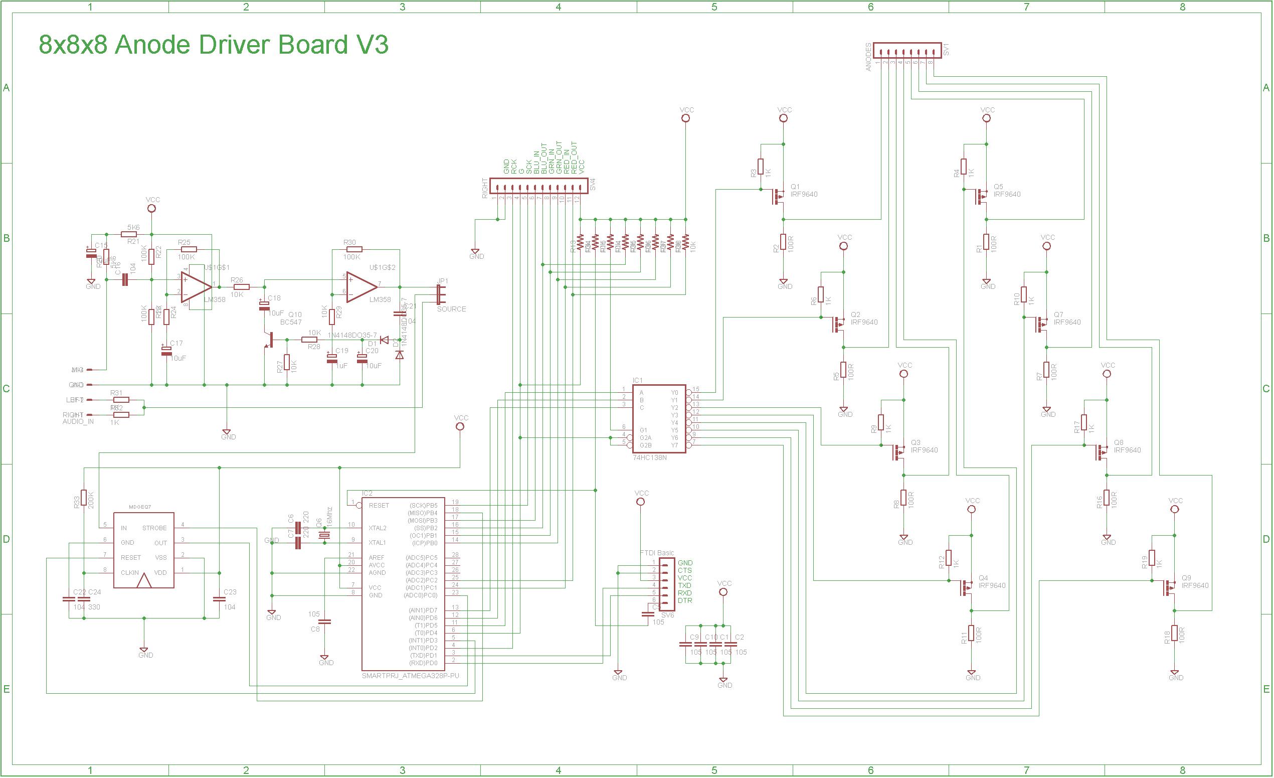 8x8x8 Rgb Led Cube