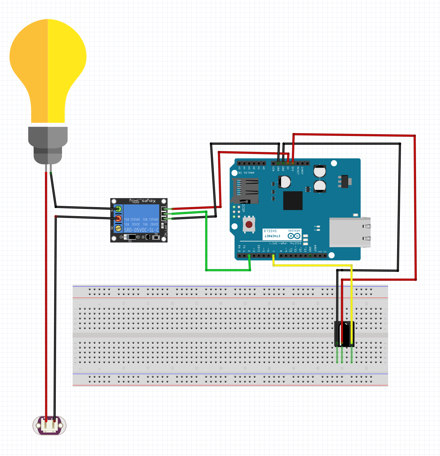 Remote Control Light Bulb Using A Relay