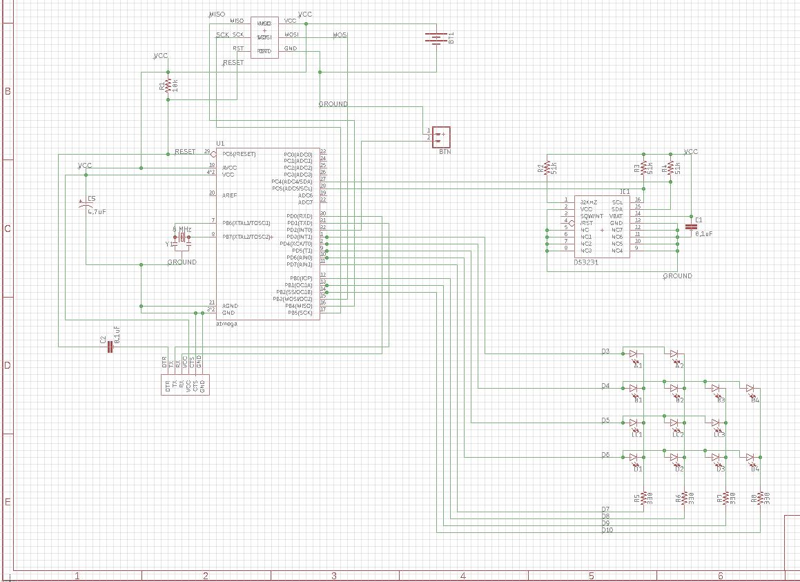 Arduino Led Matrix Schematic