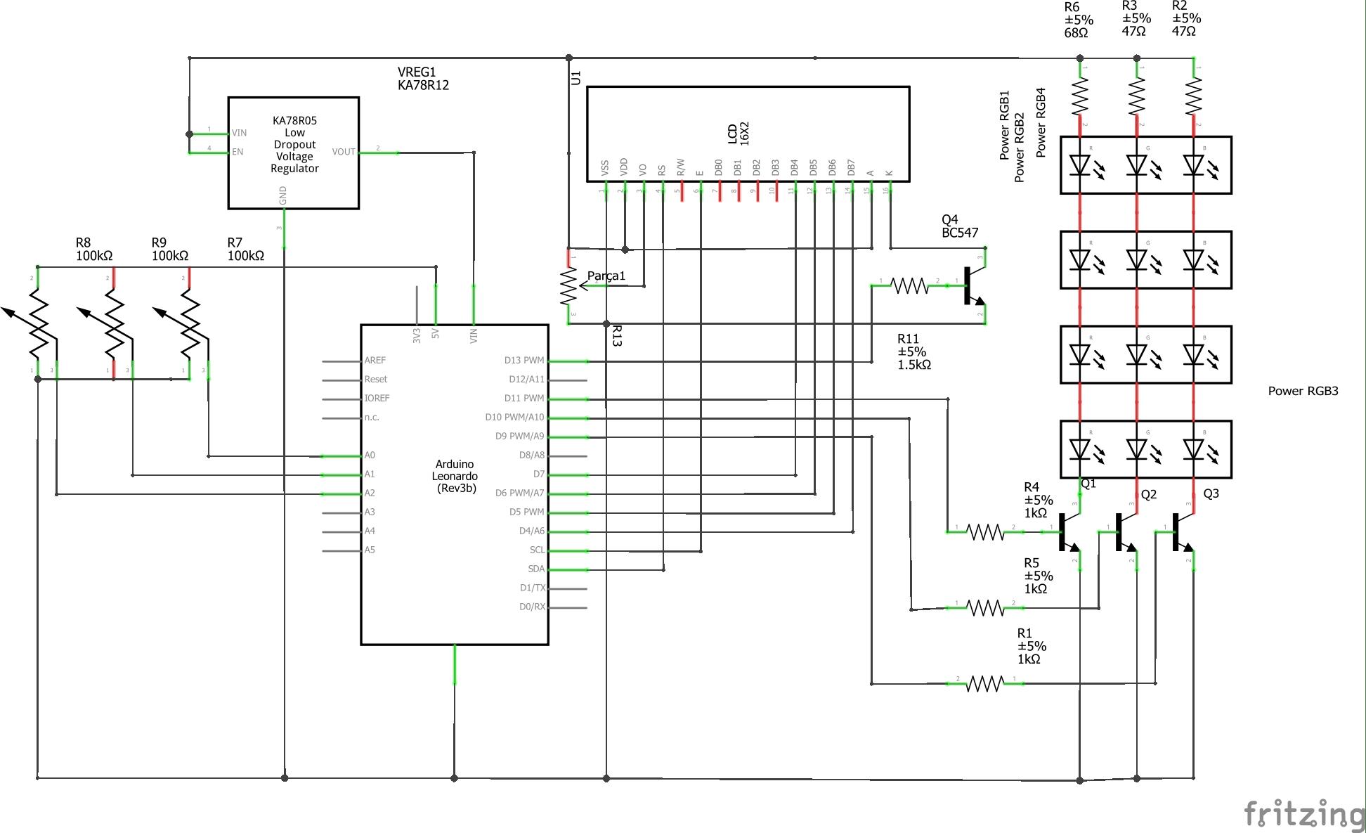 Rgb Color Mixer Arduino Project