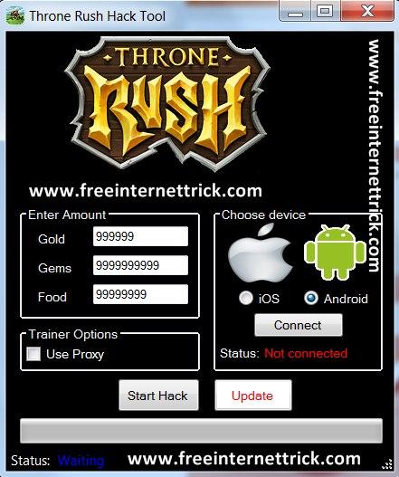 Throne Rush Hack Free Gems Cheat Engine