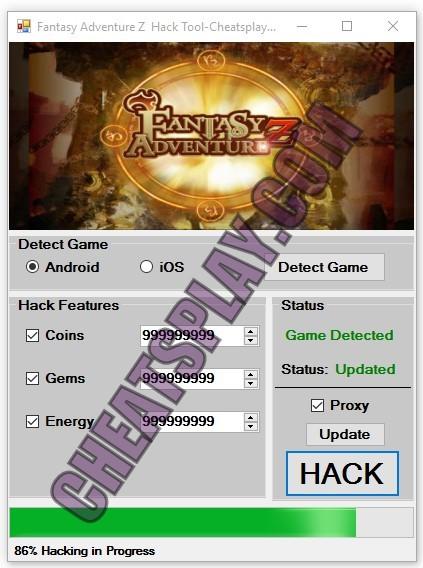 Fantasy Adventure Z Hack Tool