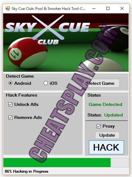 Sky Cue Club Hack Tool