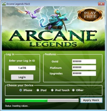 New Arcane Legends Hack.