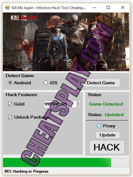 Kill Me Again Infectors Hack Tool