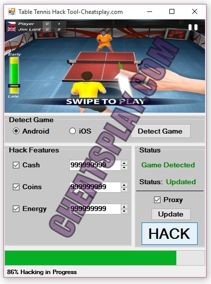 Table Tennis Hack Tool