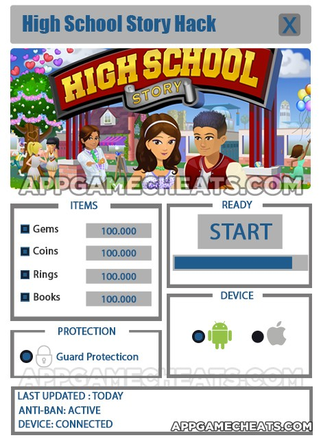 high-school-story-cheats-hack-gems-coins-rings-books