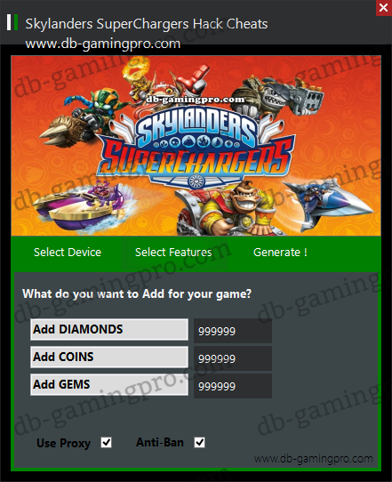 Skylanders SuperChargers Hack Cheats