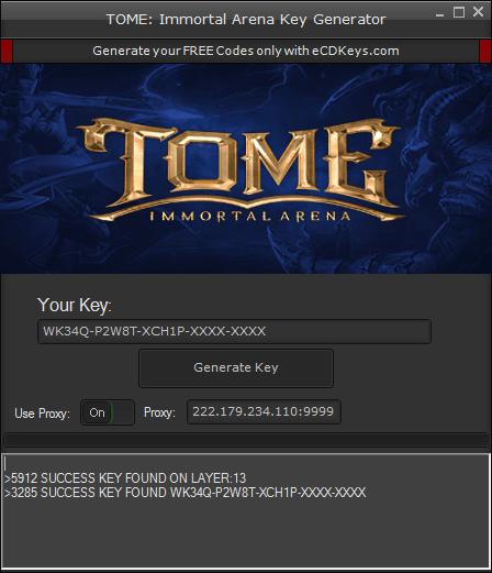 TOME: Immortal Arena cd-key