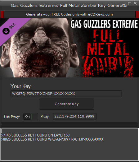 Gas Guzzlers Extreme: Full Metal Zombie cd-key