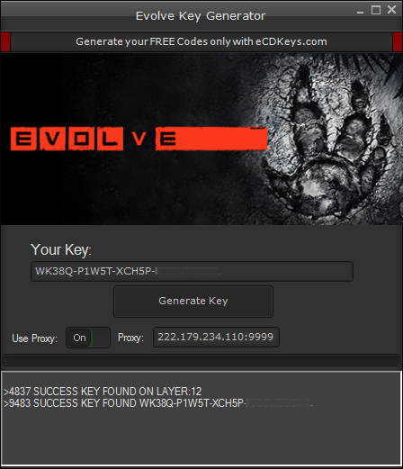 Evolve cd-key
