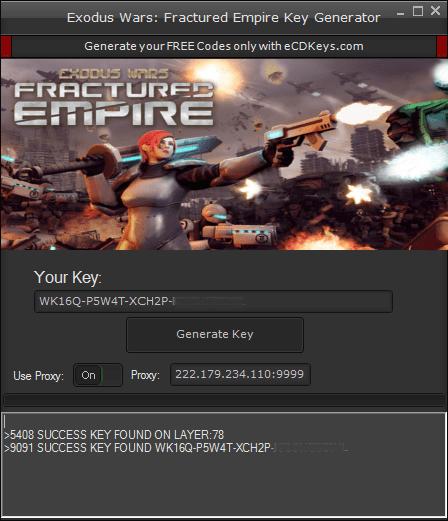 Exodus Wars Fractured Empire cd-key
