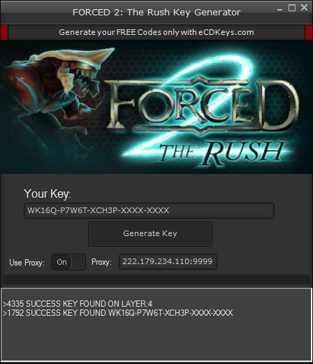 FORCED 2: The Rush cd-key