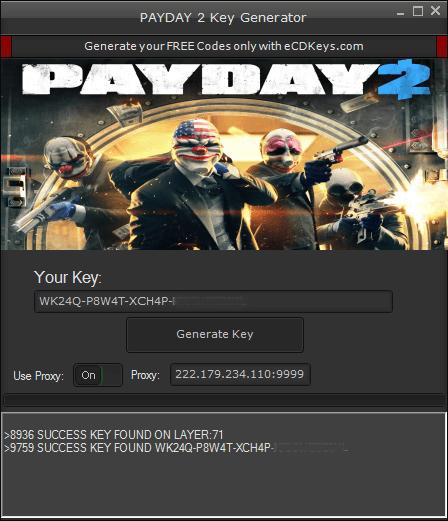 PAYDAY 2 cd key