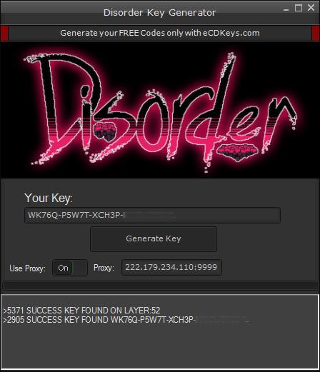 Disorder cd-key