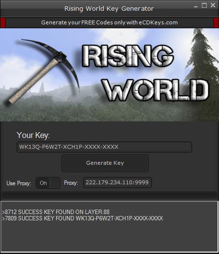 Rising World cd-key