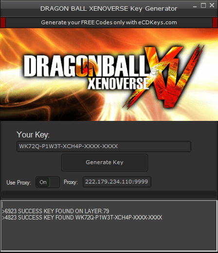 DRAGON BALL XENOVERSE cd-key