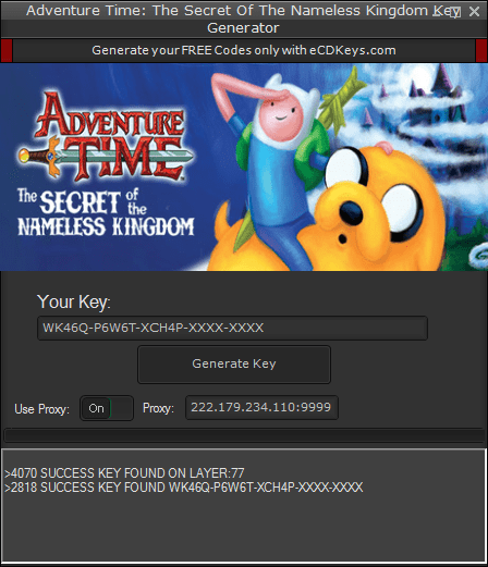 Adventure Time: The Secret Of The Nameless Kingdom cd-key